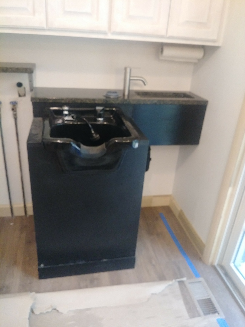 Columbus, OH - Just a custom installation of a home salon hair and hand sink