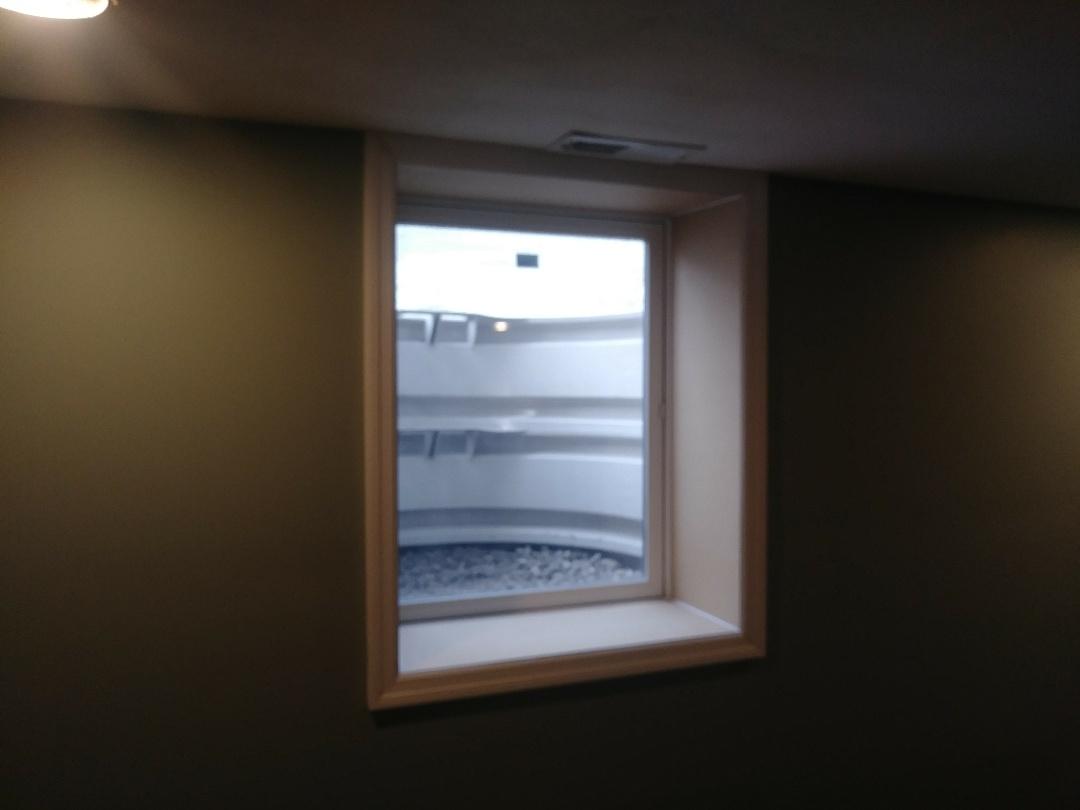 Worthington, OH - Egress window, new window in basement remodel. Fire escape
