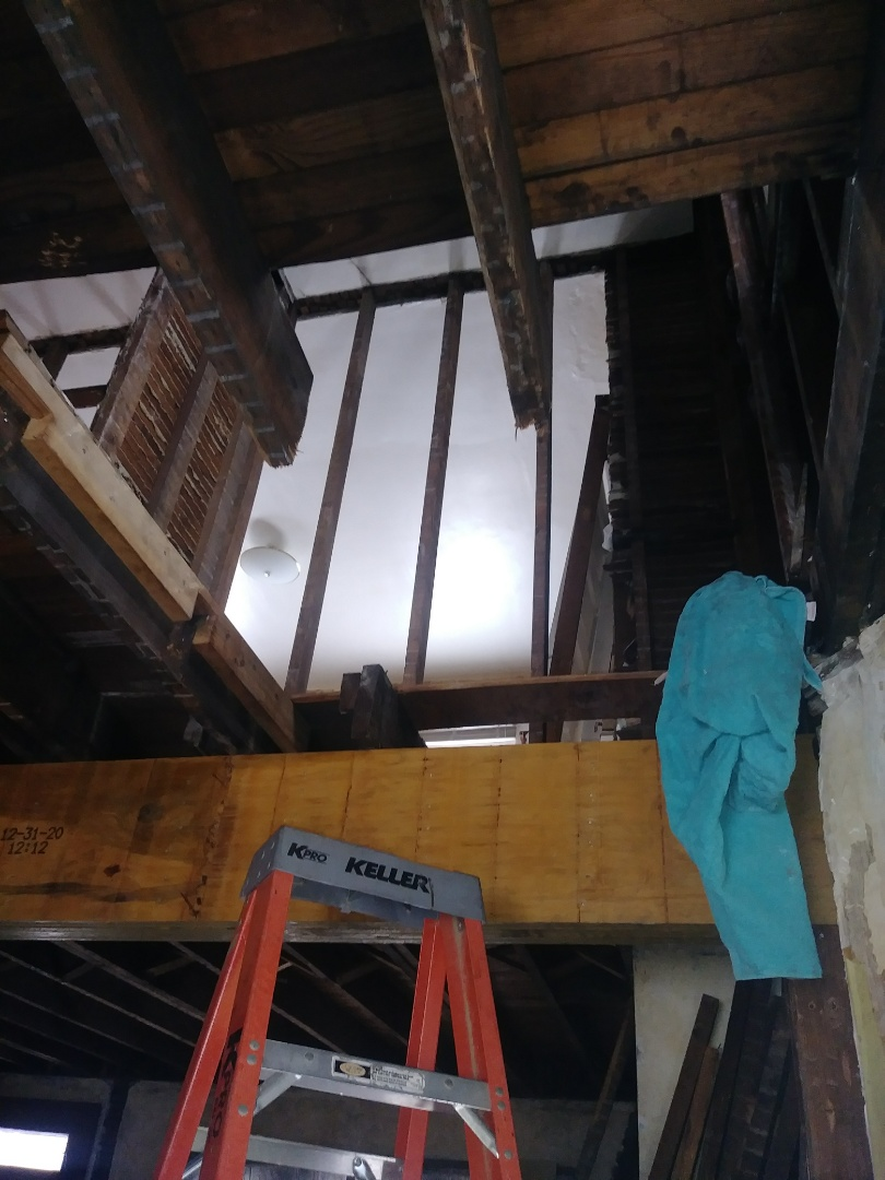 Columbus, OH - Removing bad framing that has been hacked on for years. To put a new floor and upstairs laundry in.