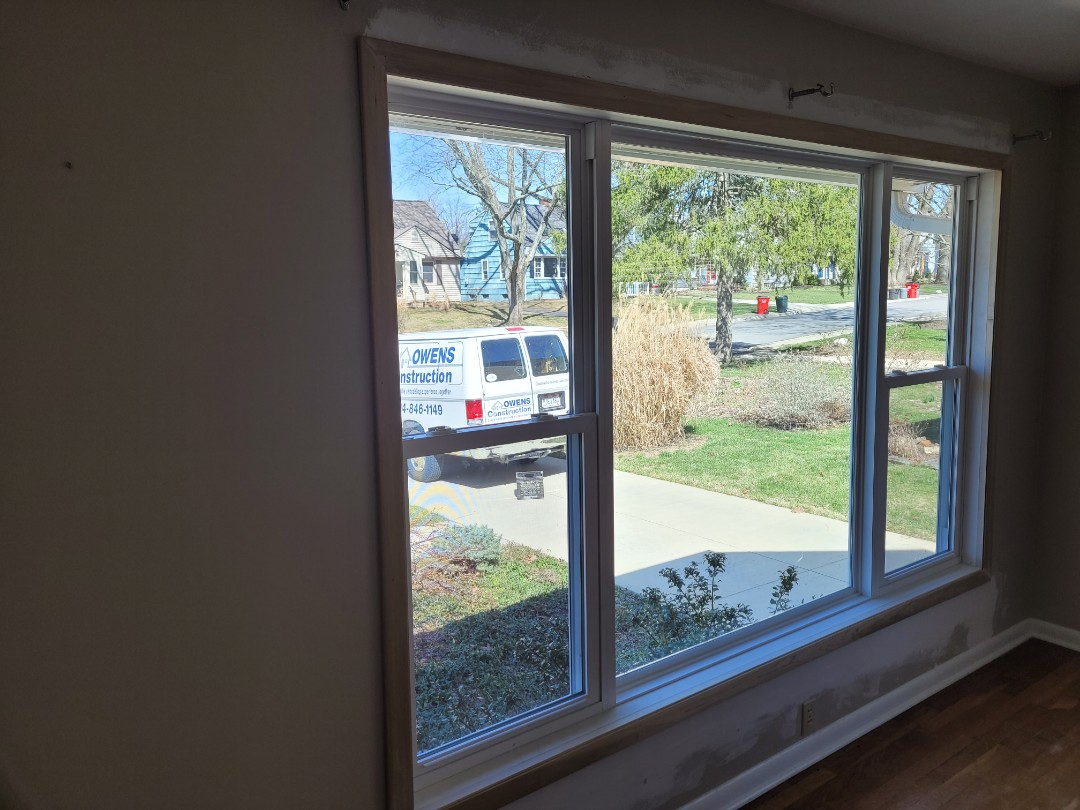 Worthington, OH - A little drywall repair on the new window and face-lift on an older home