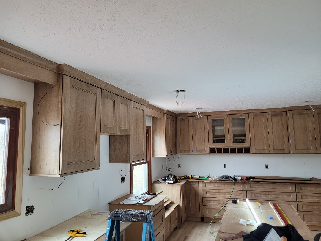 Powell, OH - Almost done with the new Medallion line of cabinets , Install. Making a larger kitchen and plenty of room for storage