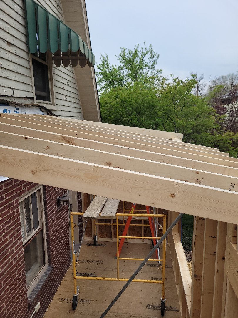 Columbus, OH - Framing an addition for the new kitchen and office