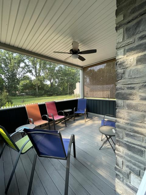 Worthington, OH - Wrapping up this screened porch project in Worthington, Oh. Our clients had a covered porch with treated lumber that they wanted to upgrade to a screened-in porch with low maintenance materials like @Timbertech composite decking and @Screeneze no-spline window screens. We think it looks like an inviting place to read a book, have a cup of coffee and gather with friends and family!