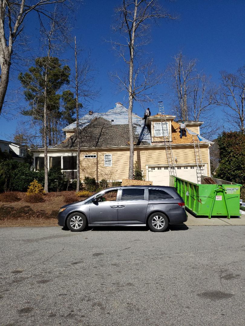 Apex, NC - 60 square roofbin apex with CertainTeed Landmard Pro Weathered Wood. Beautifulp