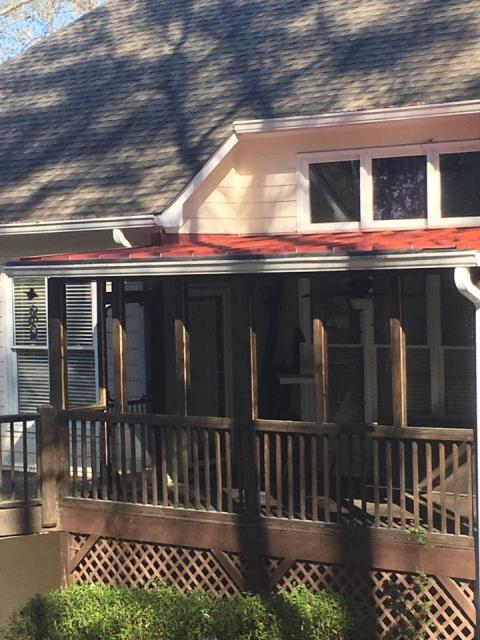 Villa Rica, GA - Installed metal rustic red over back porch.