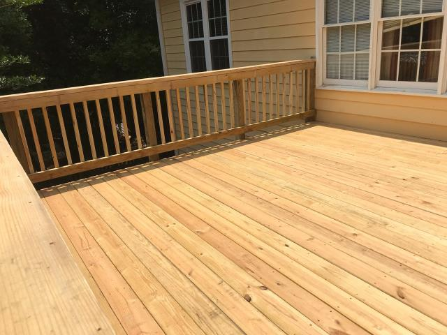 Lawrenceville, GA - Deck replacement completed