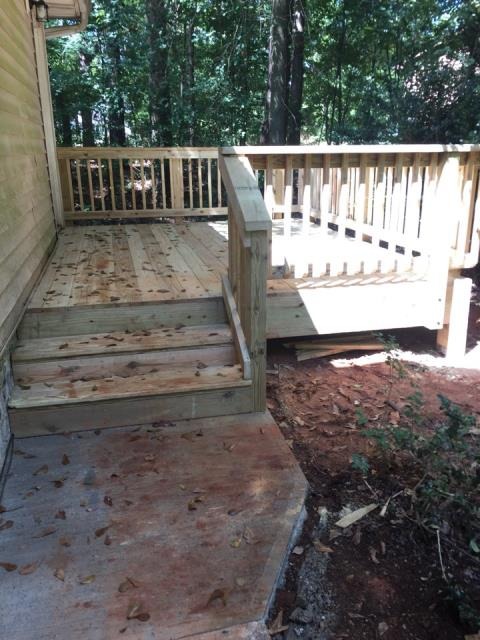 Stockbridge, GA - Deck replacement completed in Stockbridge.