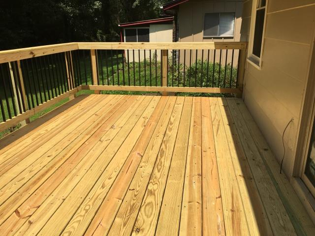 Decatur, GA - Deck replacement completed in Decatur, GA.
