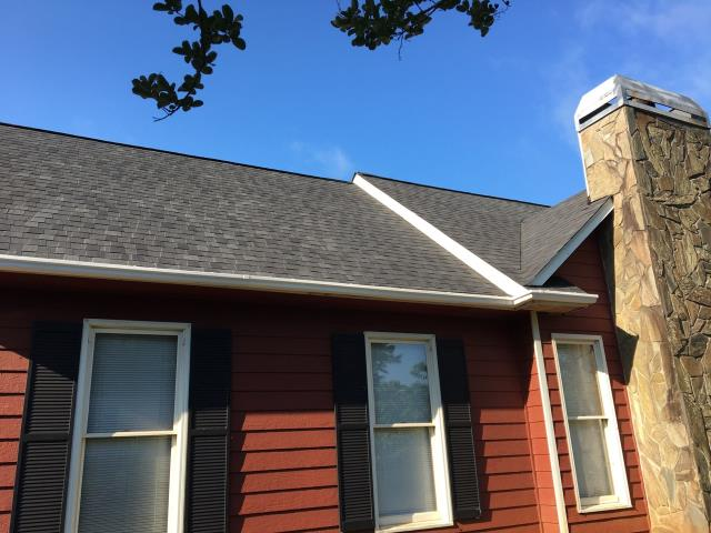Newnan, GA - Roof, Gutter and Soffit replacement completed in Newnan.