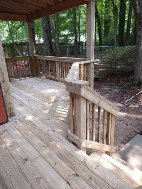 Austell, GA - Deck replacement completed in Austell, GA
