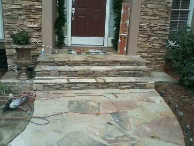 Roswell, GA - STONE PORCH REPAIR COMPLETED IN ROSWELL, GA