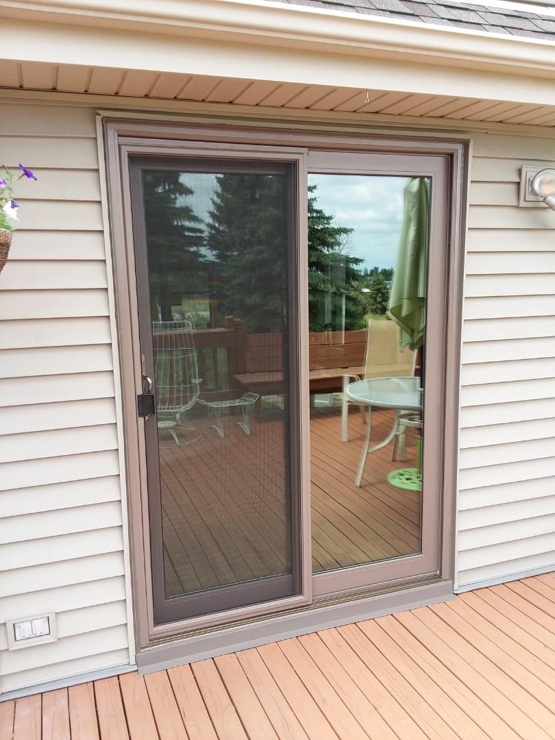 West Bend, WI - Patio door with aluminum and no woodwork