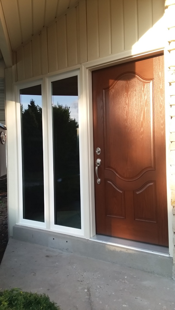 Greendale, WI - Installed 1 entry door and 2 ff windows