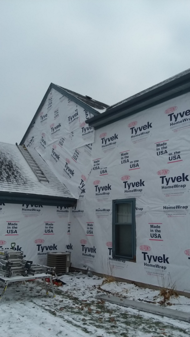 New Berlin, WI - Continuing  tearing off siding