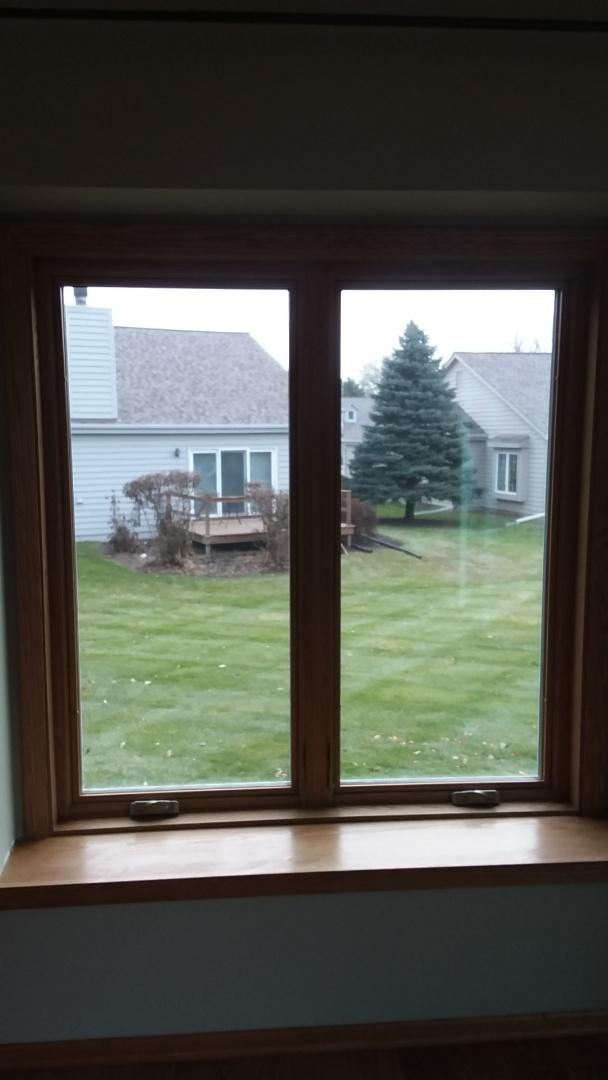 Greenfield, WI - Service: rebuilding woodwork on a window