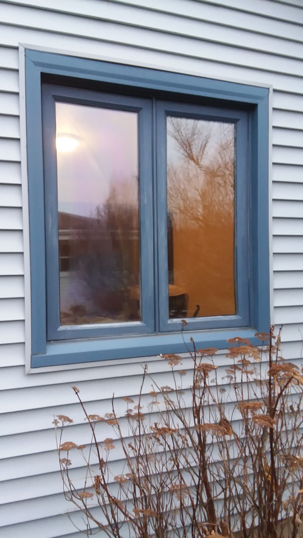 Franklin, WI - One window full frame with woodwork and aluminum trim