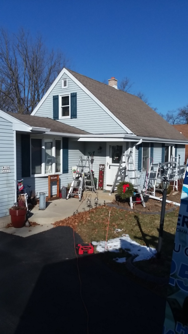 Muskego, WI - Gutters and downspouts
