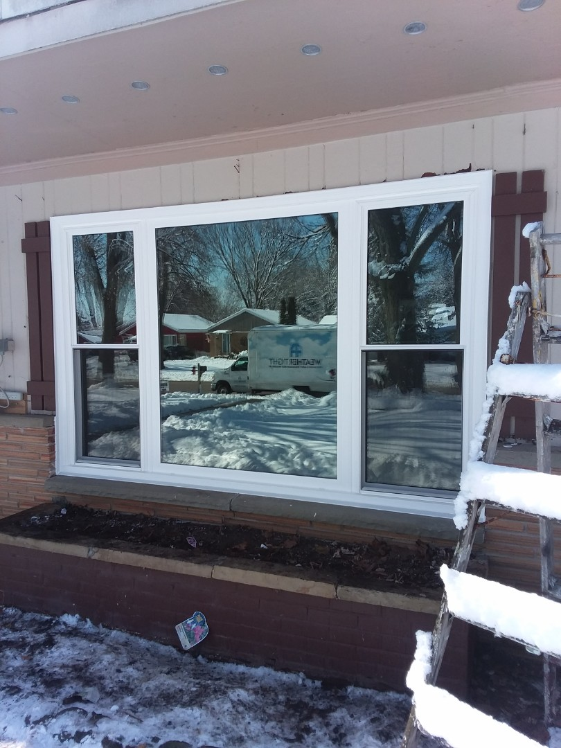 Wauwatosa, WI - One window full frame complete with vinyl brickmold and woodwork