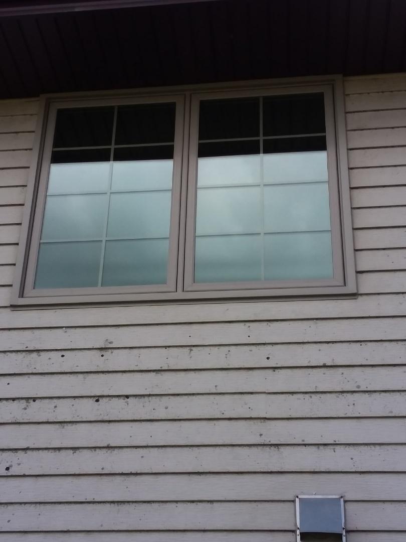 Mukwonago, WI - Four windows full frame with woodwork and aluminum trim