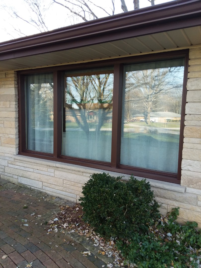 Brookfield, WI - Wrapping windows as and  overhead garage door with aluminum