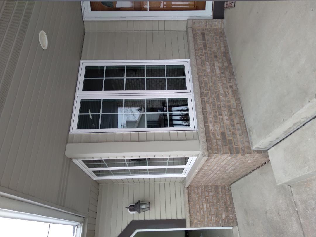Menomonee Falls, WI - Six windows with woodwork and aluminum trim
