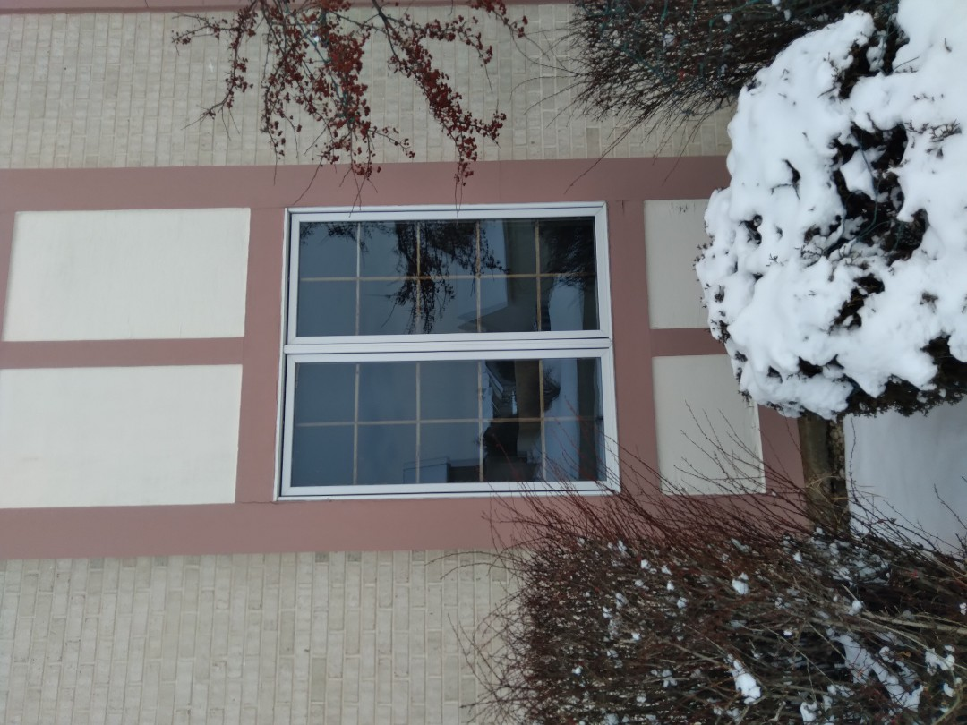 Milwaukee, WI - Two windows full frame with woodwork and aluminum