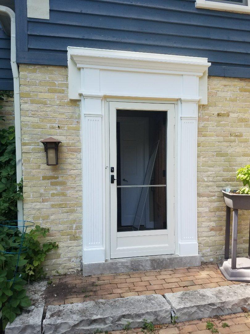 Elm Grove, WI - New exterior and stoem door