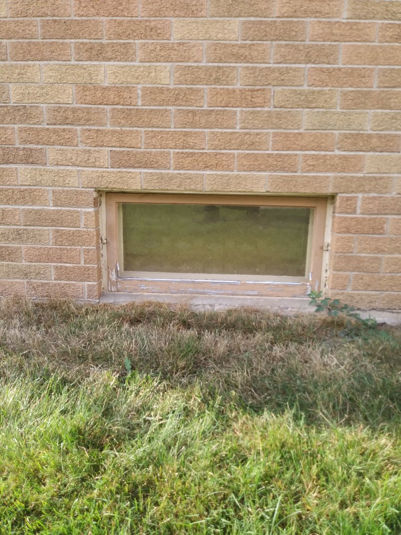 Racine, WI - Removing old basement windows - replacing with new Hoppers by WeatherTight
