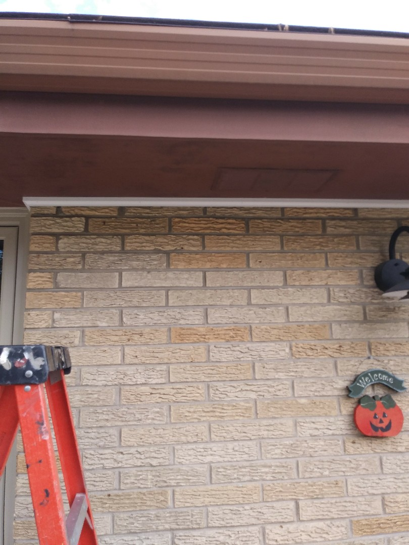 Menomonee Falls, WI - Replacing cove soffit molding by window that we installed