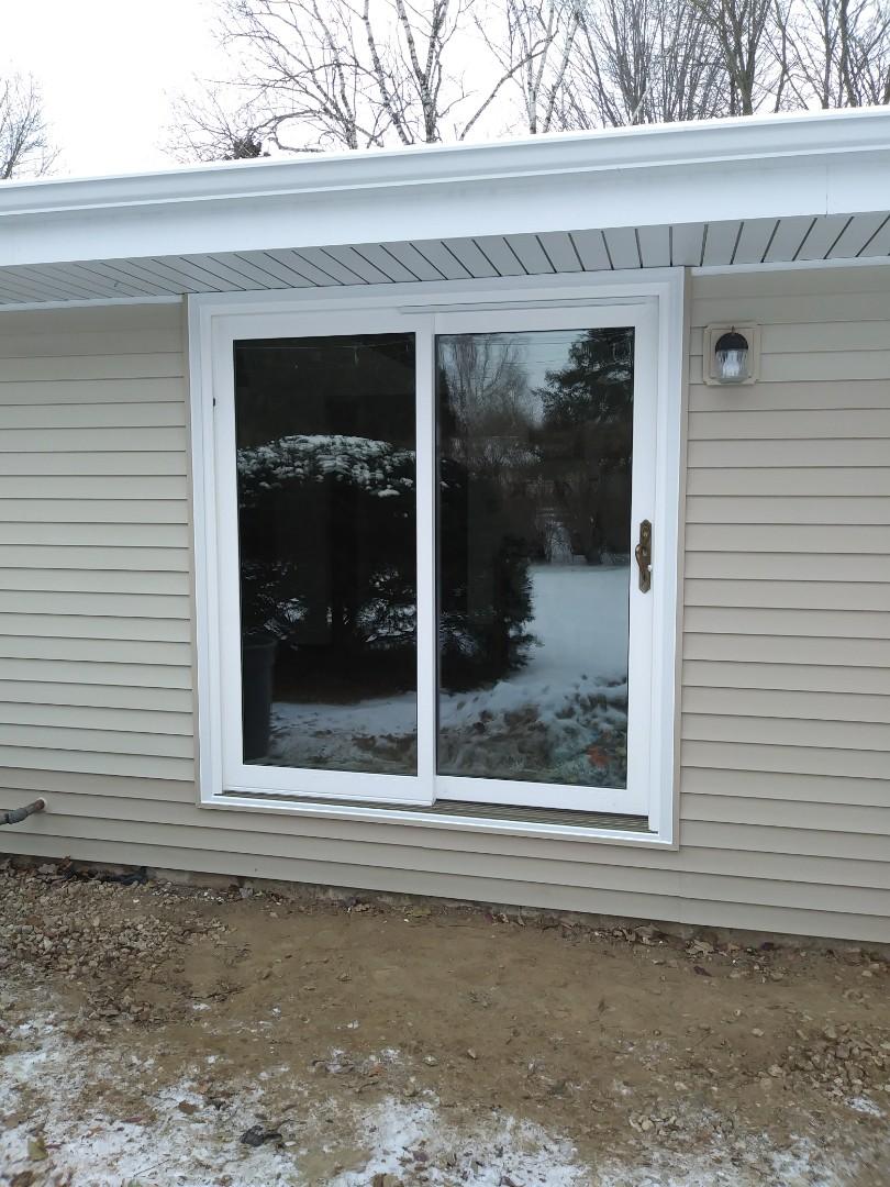Oconomowoc, WI - Patio Door and Siding repair, Day 2