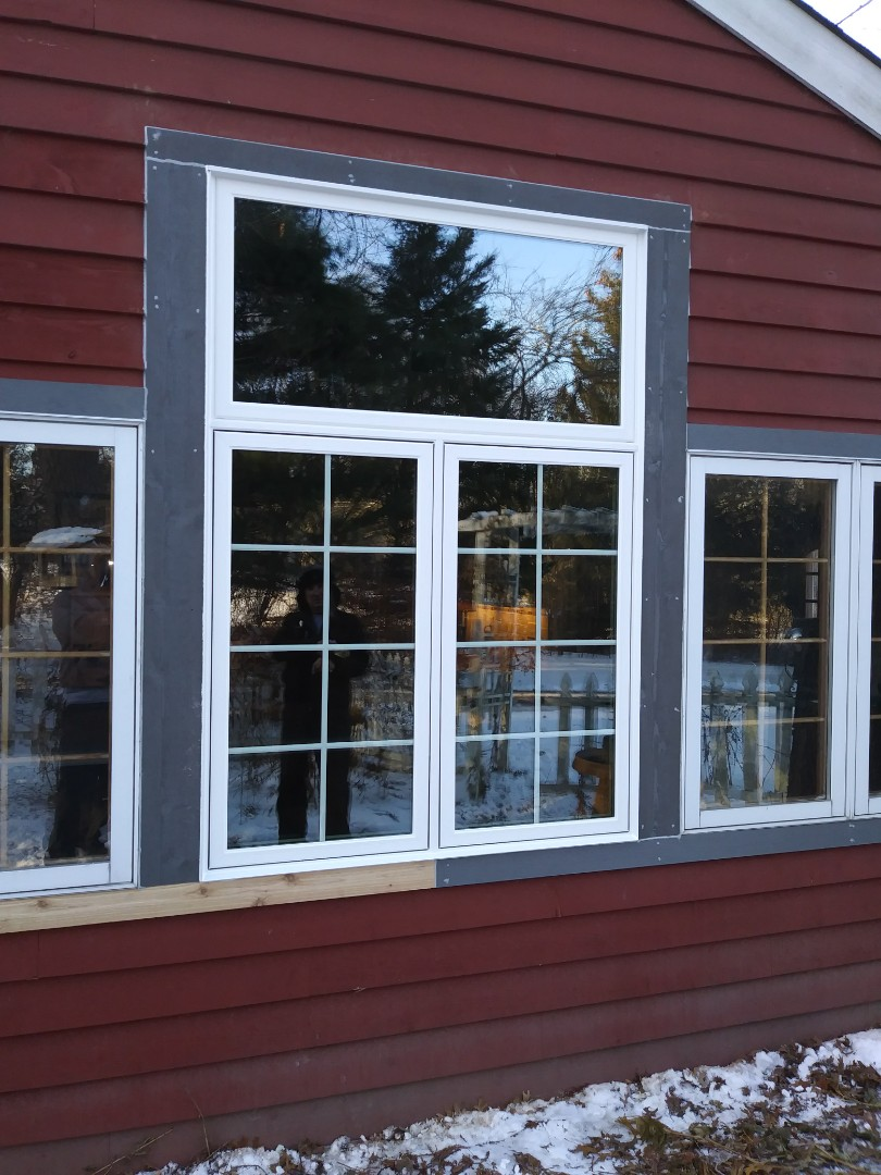 Oconomowoc, WI - Twin Casement windows with transom