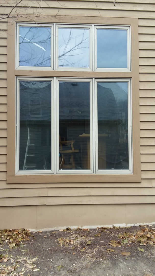 Muskego, WI - Four windows pocket install with stops and aluminum trim.
