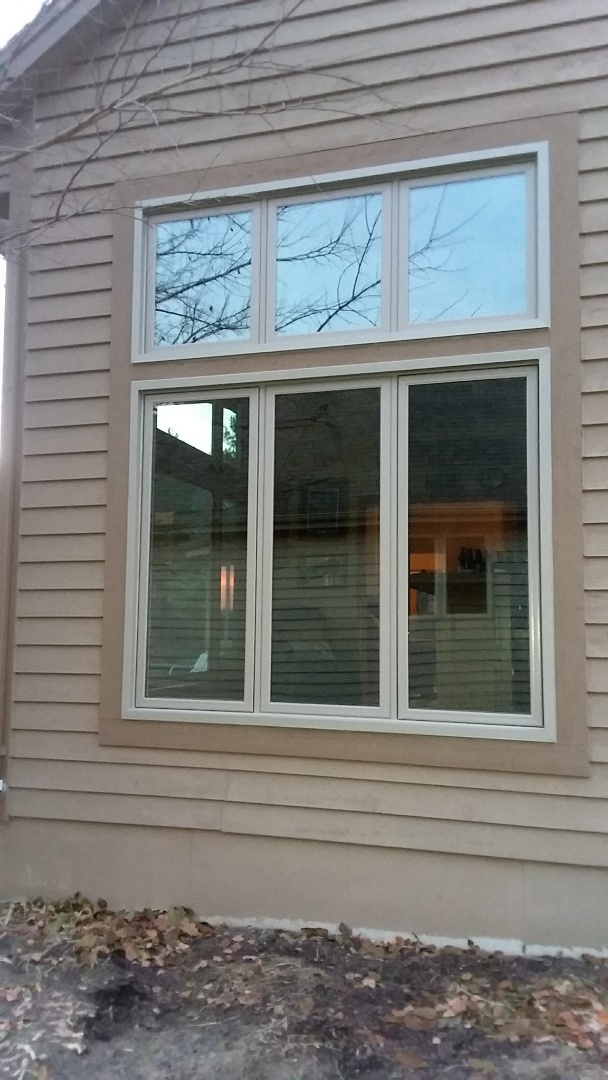 Muskego, WI - Four windows pocket install with stops  and aluminum trim