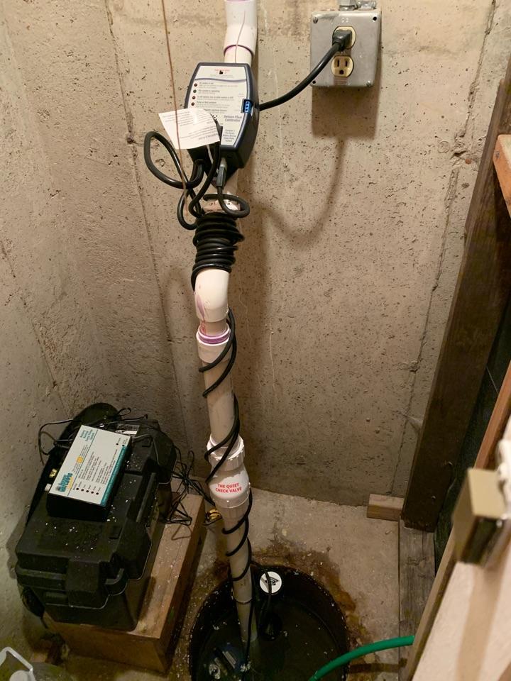 Bartlett, IL - Sump pump instal