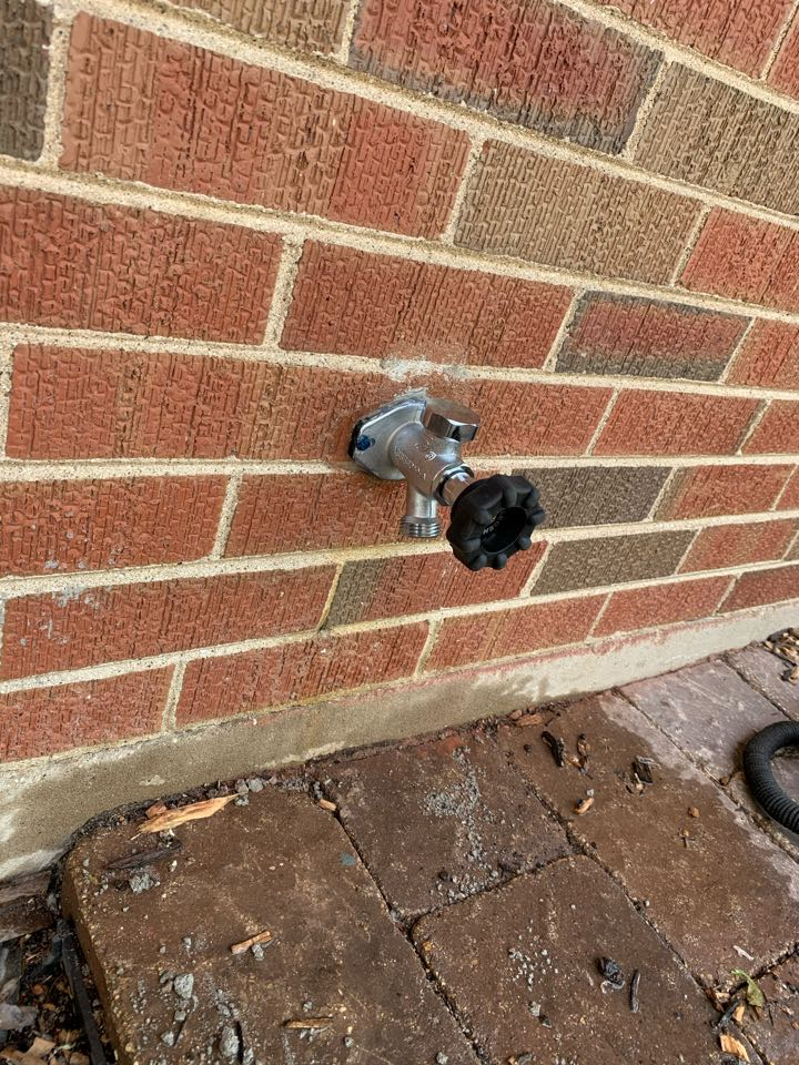 Installed outside faucet