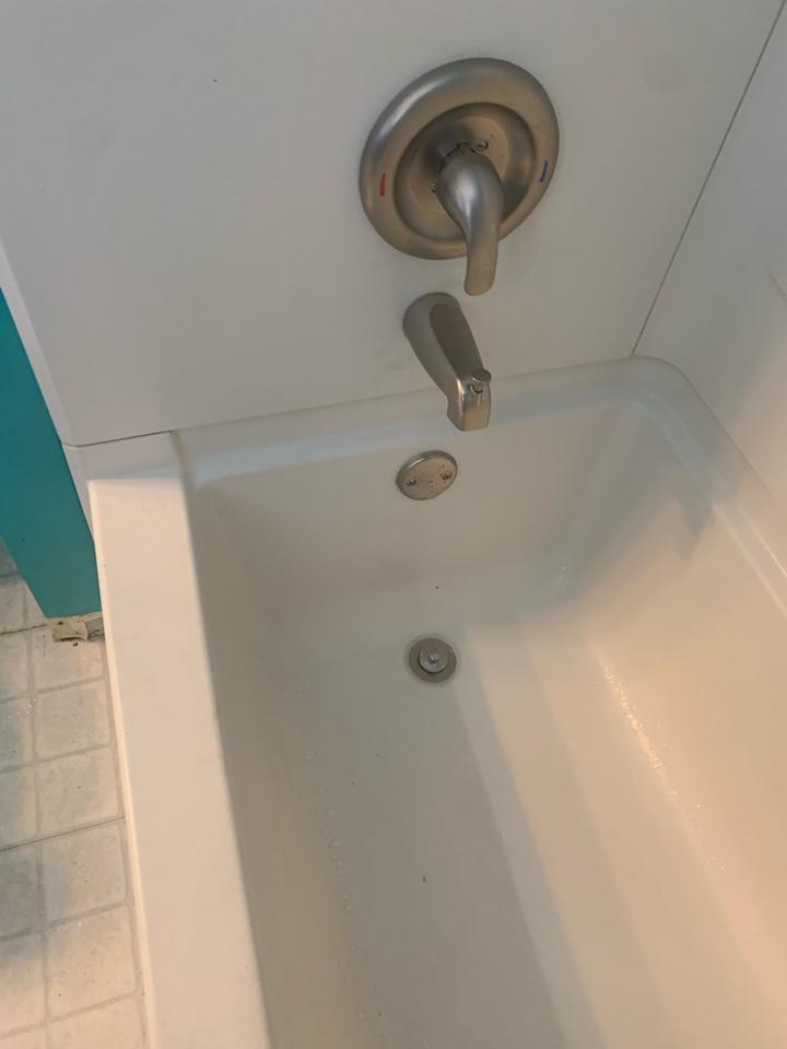 Resealed tub drain.