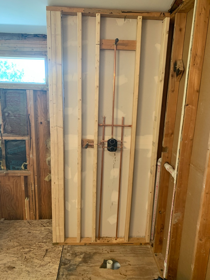Installed new valve and drain for master shower remodel
