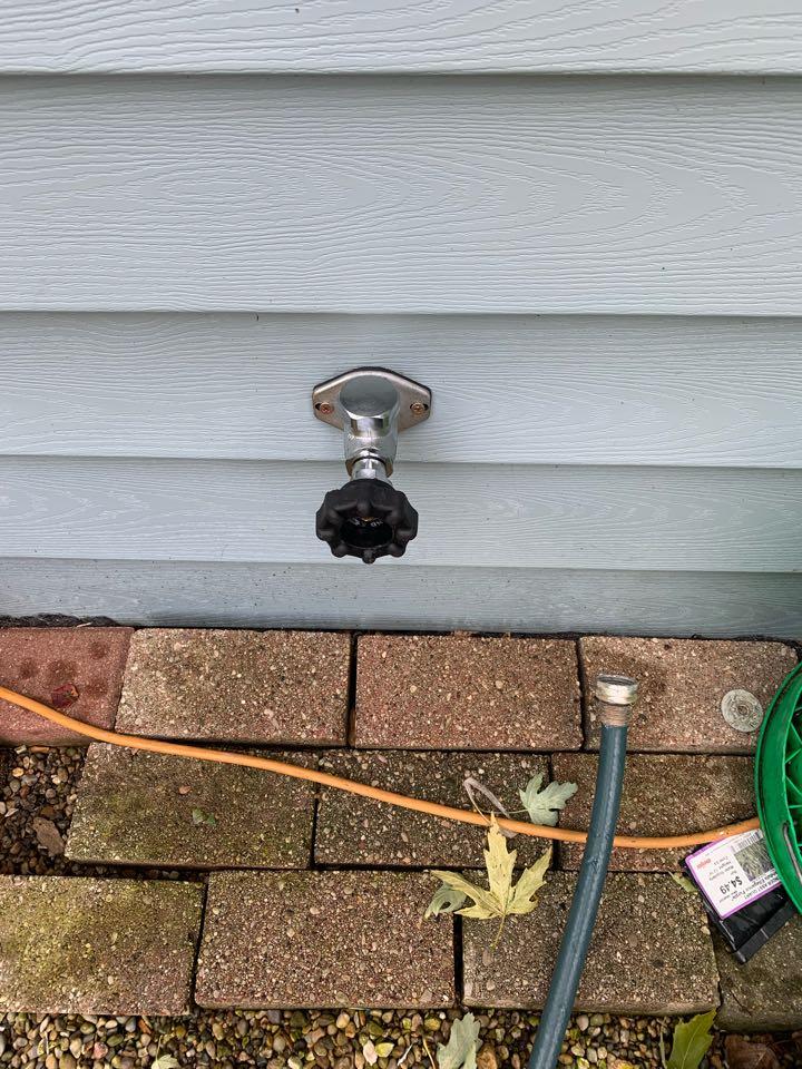 Outside spigot installation