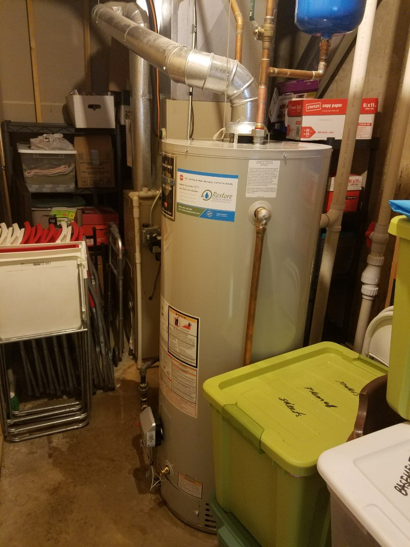 Replaced a leaking water heater from 2001. Also replaced the adjacent sump pump and ejector pump to prevent flooding.