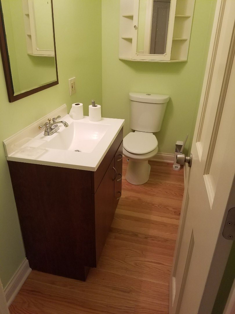 Elgin, IL - Install fixtures to complete a bathroom remodel.