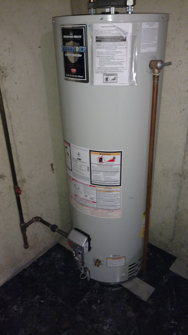 Replaced 40 gallon water heater
