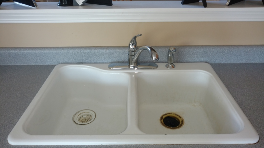Replaced kitchen faucet.