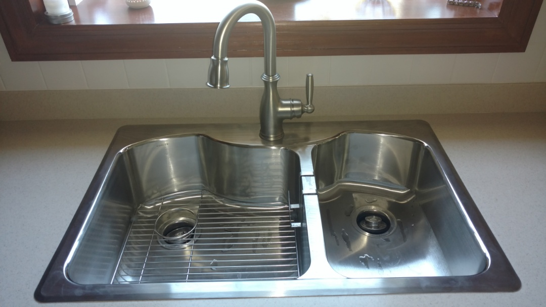 Lake in the Hills, IL - Replaced kitchen sink & faucet.