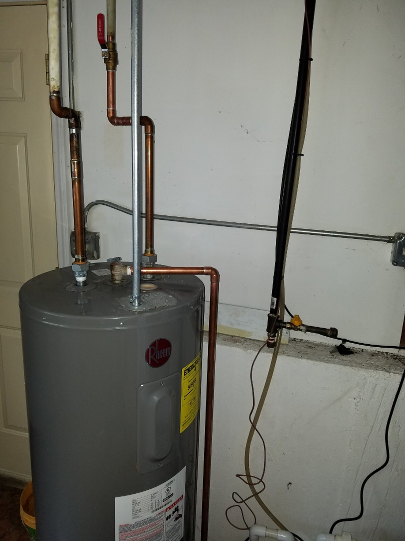 Make repairs to an existing water heater for code compliance.
