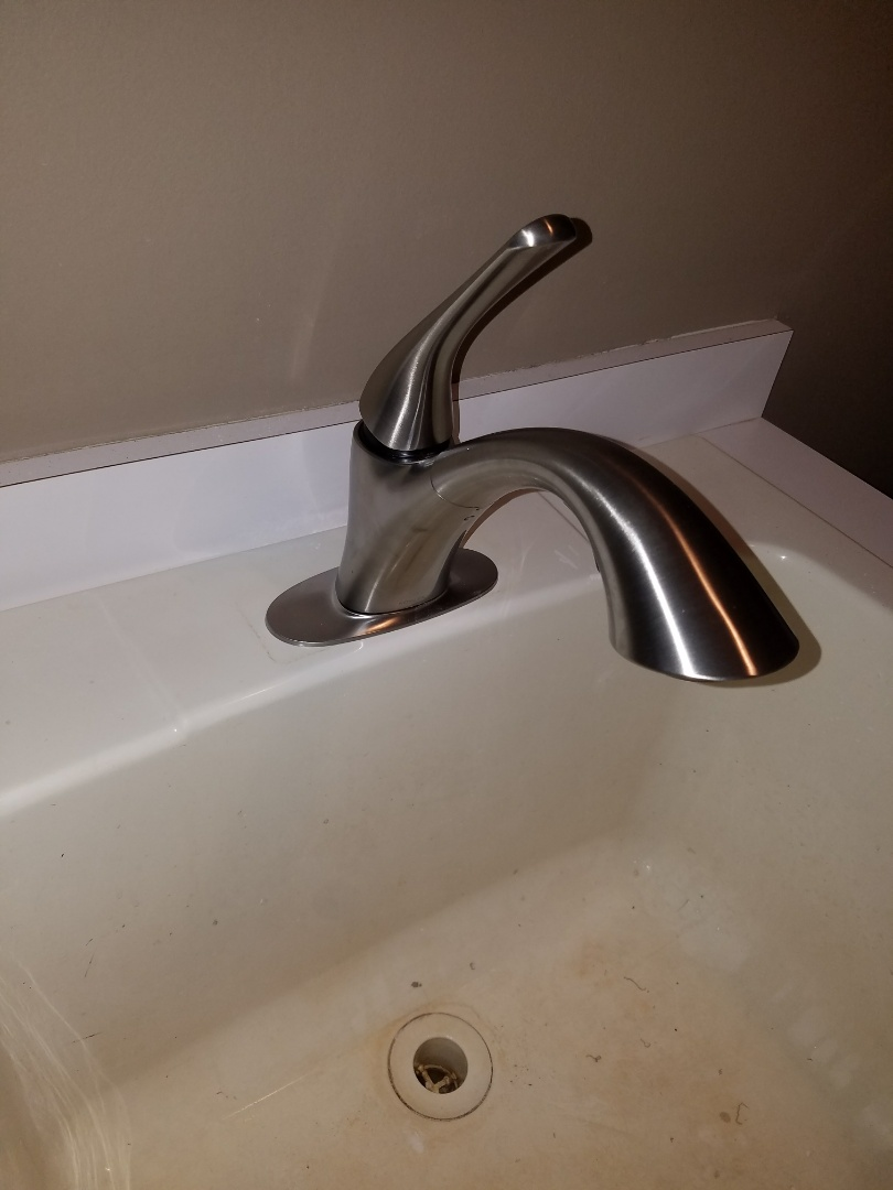 Replaced an older laundry sink faucet.