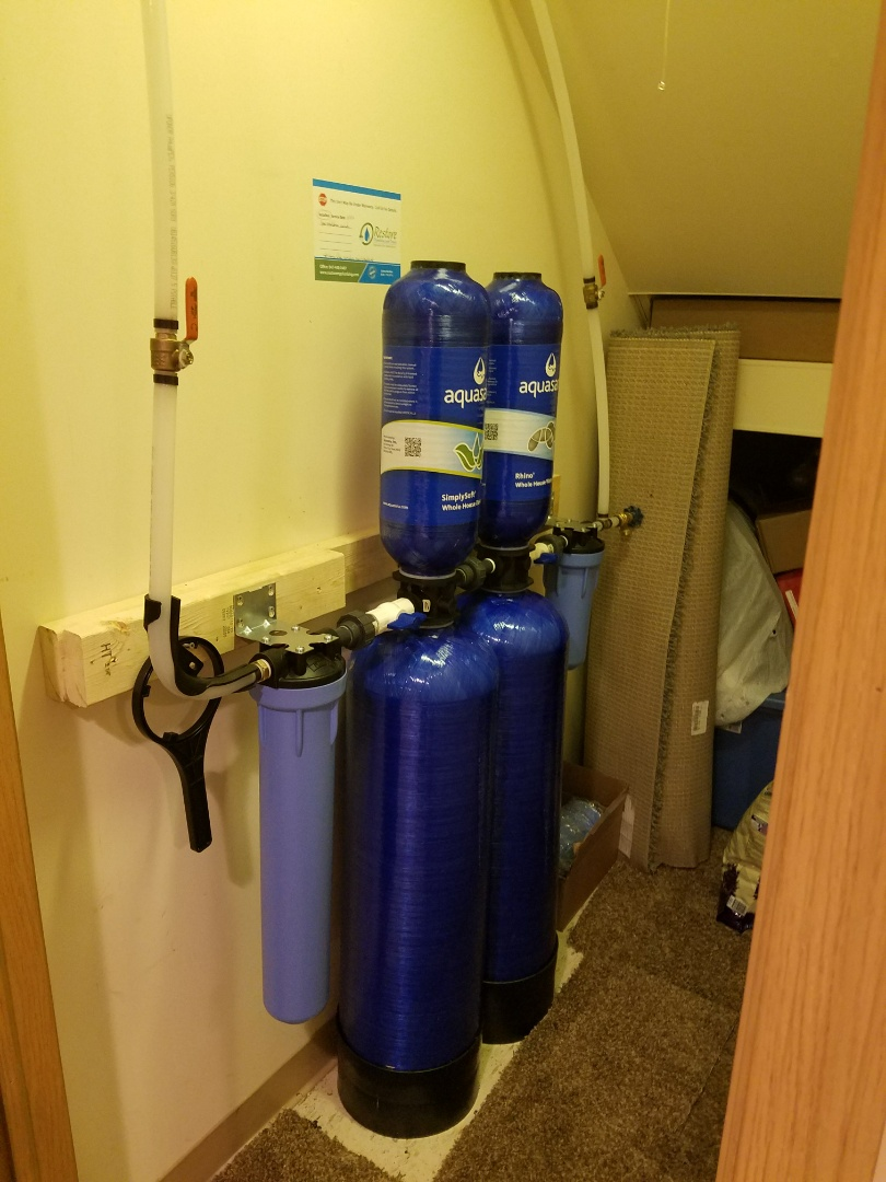 Install new water filtration systems to provide better quality water supply to the home.