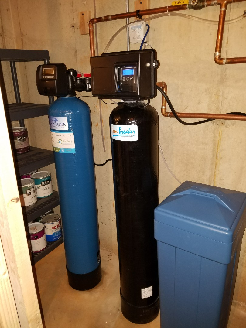 Install new water softener and iron filter to improve the quality of water to the home.