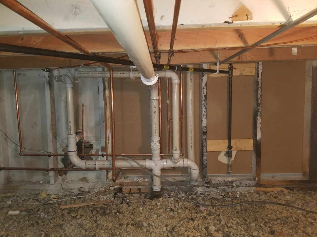 Replaced the laundry system with new plumbing due to a recent fire in the home.