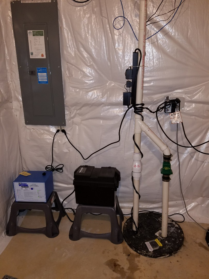 Winfield, IL - Replace a failing sump pump to prevent flooding of the basement.
