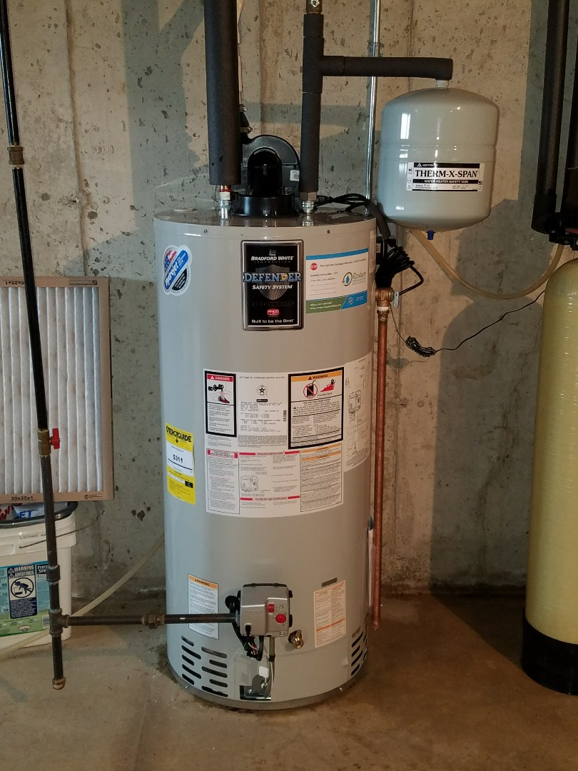 Elburn, IL - Replaced an older water heater that was leaking in the basement.